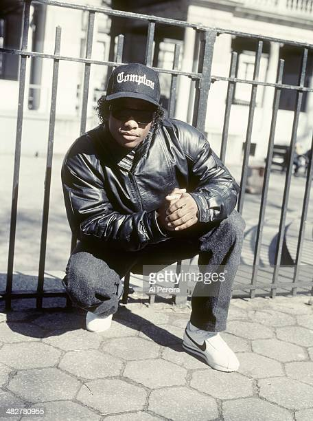 Rapper EazyE poses for a portrait in April 1989 in Union Square in New York New York