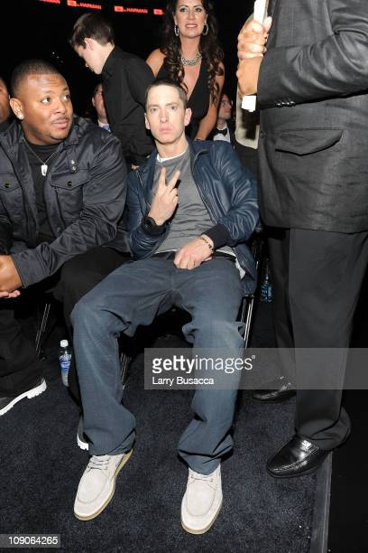 Rapper Eminem attends The 53rd Annual GRAMMY Awards held at Staples Center on February 13 2011 in Los Angeles California