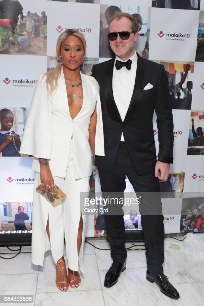 Rapper Eve and Maximillion Cooper attend as Malaika hosts Malaika10 honoring Barry Segal Tina Buchan at Espace on May 17 2017 in New York City