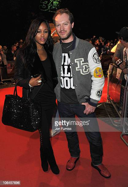 Rapper Eve and Maximillion Cooper attend the UK premiere of Jackass 3D at BFI IMAX on November 2 2010 in London England