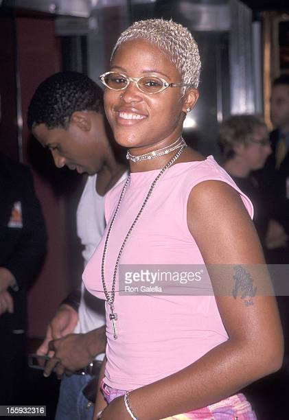 Rapper Eve attend the 'Bowfinger' New York City Premiere on July 26 1999 at the Ziegfeld Theatre in New York City