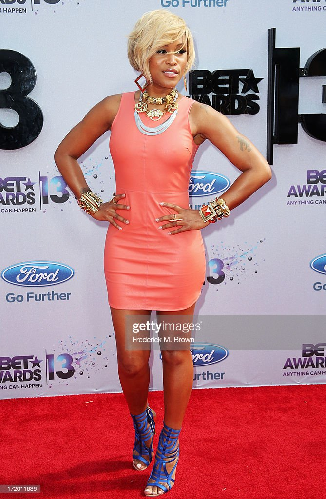 Rapper Eve attends the 2013 BET Awards at Nokia Theatre L.A. Live on June 30, 2013 in Los Angeles, California.