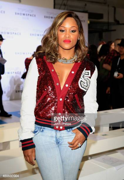 Rapper Eve attends the Ashish show during London Fashion Week Spring Summer 2015 on September 16 2014 in London England