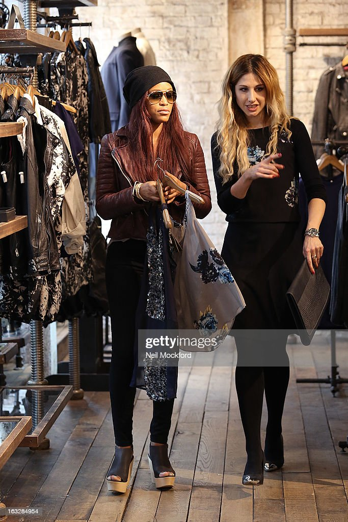 Rapper Eve is sighted shopping at All Saints on March 6, 2013 in London, England.