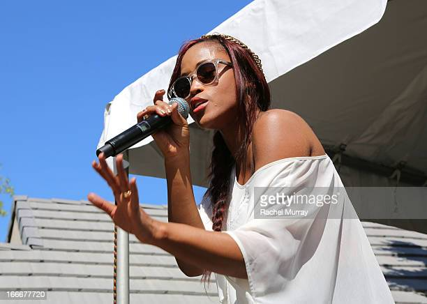 Rapper Eve performs onstage during NYLON x BOSS ORANGE Escape House Day 1 at Lake La Quinta Inn on April 13 2013 in La Quinta California