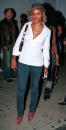 Rapper Eve poses outside The Pharmacy club October 7 2002 in Hollywood California