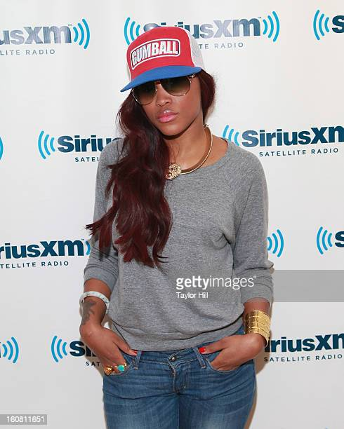 Rapper Eve visits SiriusXM Studios on February 6 2013 in New York City