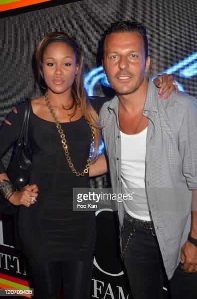 Rapper Eveand Jean Roch Pedri attend the Eve Concert Party at VIP Room on August 23 2011 in Saint Tropez France