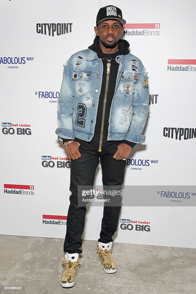 Rapper Fabolous attends BKLYN Rocks presented by City Point, Kids Foot Locker, and Haddad Brands at City Point on November 9, 2016 in Brooklyn, New York.
