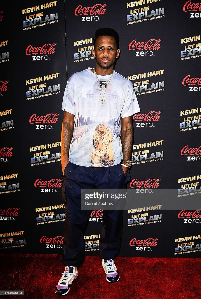 Rapper Fabolous attends the 'Kevin Hart:Let Me Explain' New York Premiere at Regal Cinemas Union Square on June 19, 2013 in New York City.