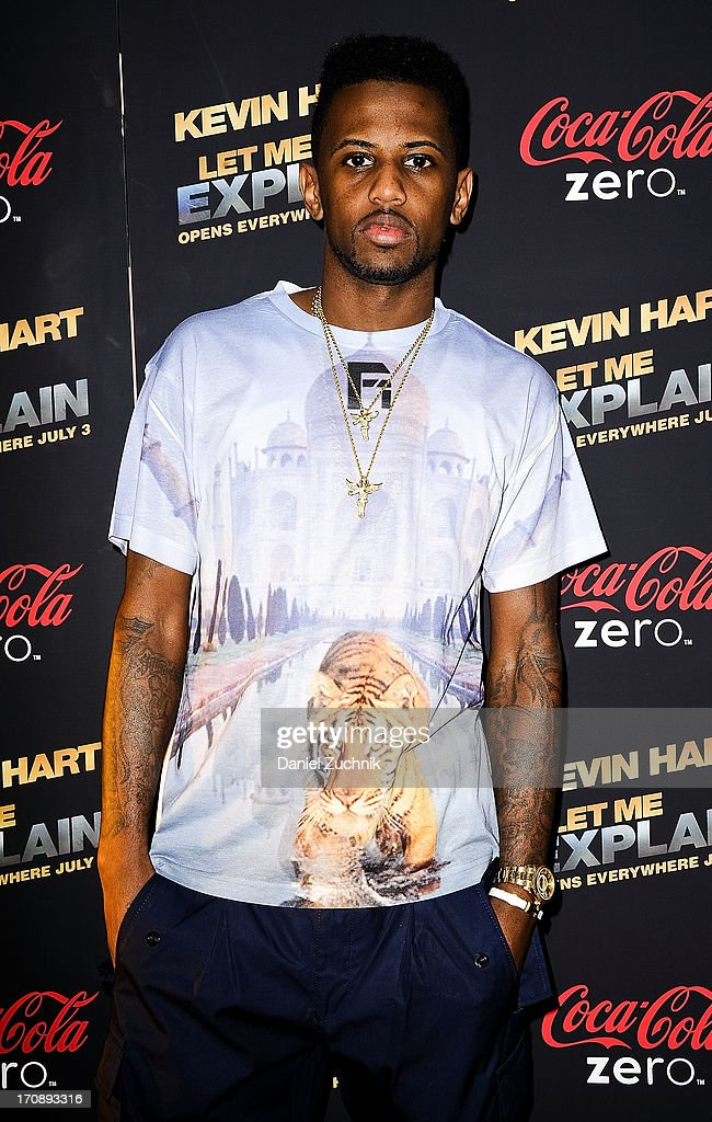 Rapper <a gi-track='captionPersonalityLinkClicked' href=/galleries/search?phrase=Fabolous&family=editorial&specificpeople=215255 ng-click='$event.stopPropagation()'>Fabolous</a> attends the 'Kevin Hart:Let Me Explain' New York Premiere at Regal Cinemas Union Square on June 19, 2013 in New York City.