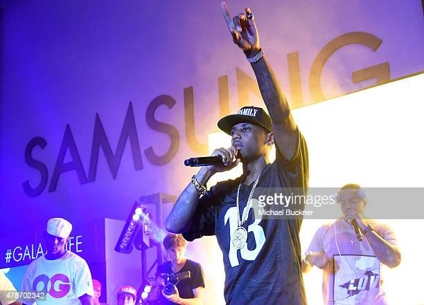 Rapper Fabolous performs onstage at a Roc Nation curated Samsung exclusive concert at Samsung Studio LA on June 26 2015 in Los Angeles California