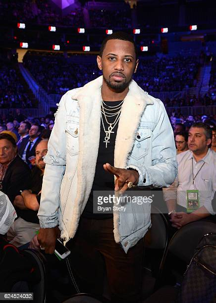 Rapper Fabolous sits in the audience during Kovalev vs Ward and D'USSE Lounge at TMobile Arena on November 19 2016 in Las Vegas Nevada