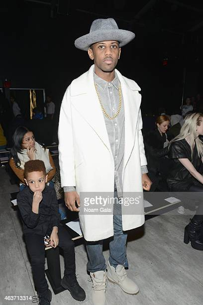Rapper Fabulous attends the Skingraft fashion show during MercedesBenz Fashion Week Fall 2015 at The Pavilion at Lincoln Center on February 17 2015...