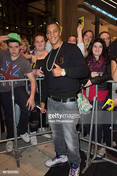 Rapper Farid Bang attends the 'Fack ju Goehte 2' Cinema Tour at the Cinedom on September 12 2015 in Cologne Germany