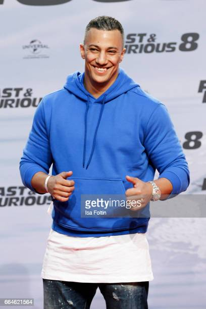 Rapper Farid Bang attends the premiere for the film 'Fast Furious 8' at Sony Centre on April 4 2017 in Berlin Germany