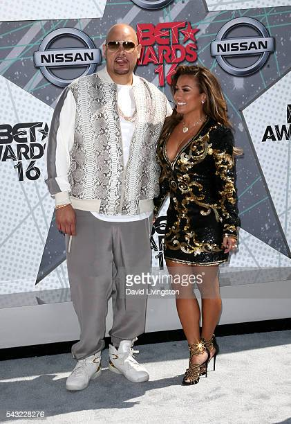 Rapper Fat Joe and Lorena Cartagena attend the 2016 BET Awards at Microsoft Theater on June 26 2016 in Los Angeles California
