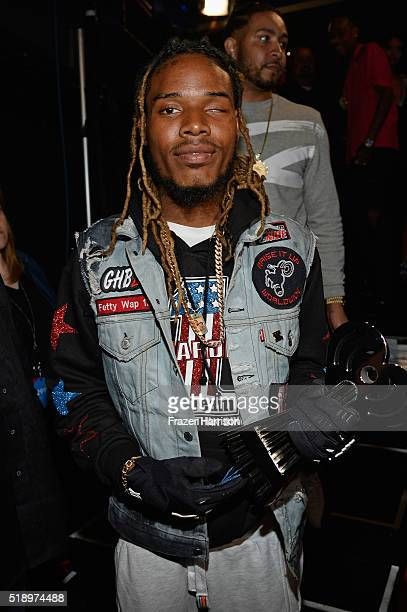 Rapper Fetty Wap backstage at the iHeartRadio Music Awards which broadcasted live on TBS TNT AND TRUTV from The Forum on April 3 2016