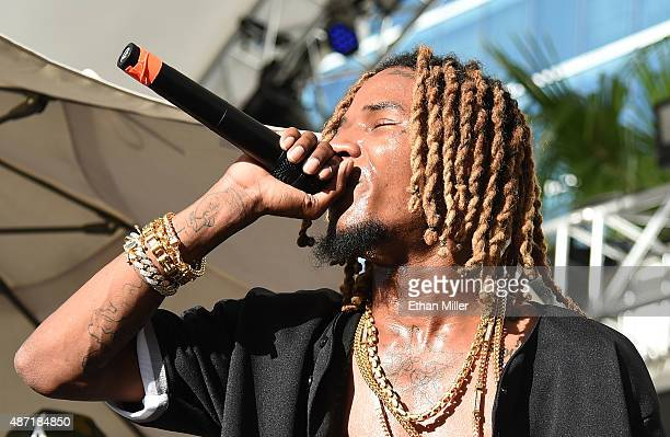 Rapper Fetty Wap performs at Foxtail Pool at SLS Las Vegas on September 6 2015 in Las Vegas Nevada