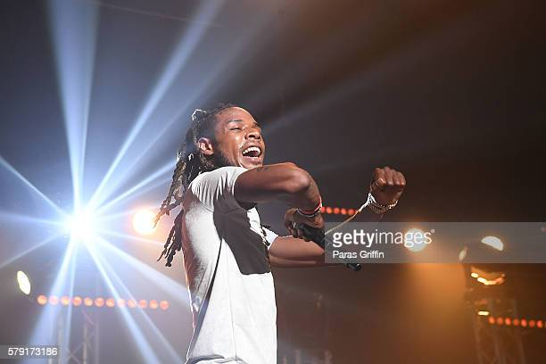 Rapper Fetty Wap performs on stage at Gucci and Friends Homecoming Concert at Fox Theatre on July 22 2016 in Atlanta Georgia
