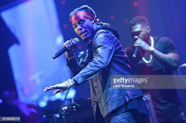 Rapper Fetty Wap performs onstage during the 2016 PreGRAMMY Gala and Salute to Industry Icons honoring Irving Azoff at The Beverly Hilton Hotel on...