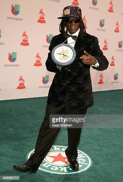 Rapper Flavor Flav attends the 15th annual Latin GRAMMY Awards at the MGM Grand Garden Arena on November 20 2014 in Las Vegas Nevada