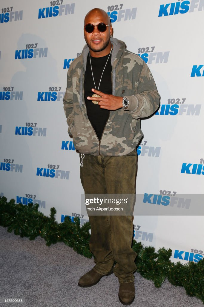 Rapper Flo Rida attends KIIS FM's 2012 Jingle Ball at Nokia Theatre L.A. Live on December 3, 2012 in Los Angeles, California.