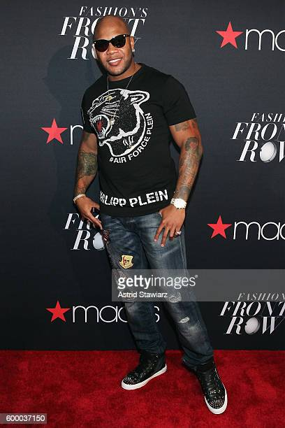 Rapper Flo Rida attends Macy's Presents Fashion's Front Row on September 7 2016 in New York City