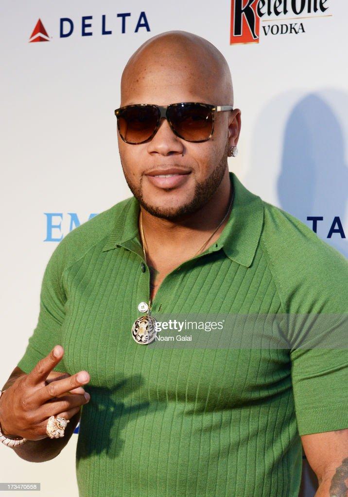 Rapper Flo Rida attends Major League Baseball's All Star Bash at Roseland Ballroom on July 14, 2013 in New York City.