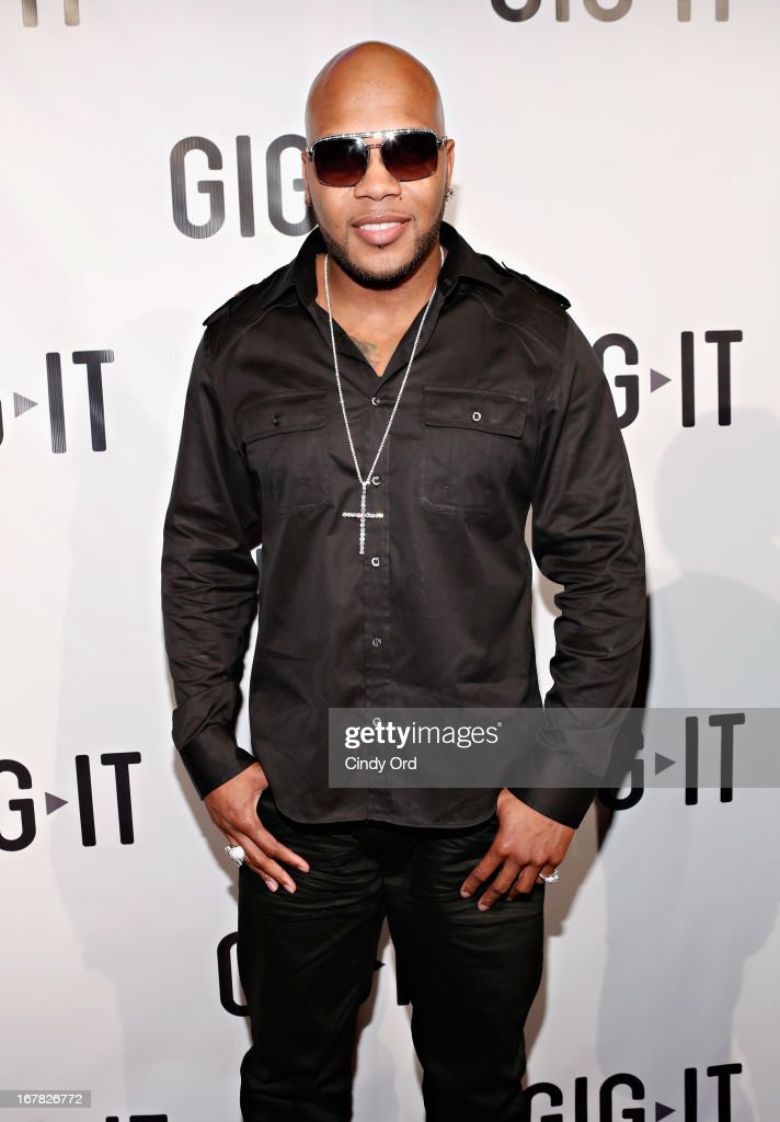 Rapper Flo Rida attends the Gig-It Launch Party at Capitale Bowery on April 30, 2013 in New York City.