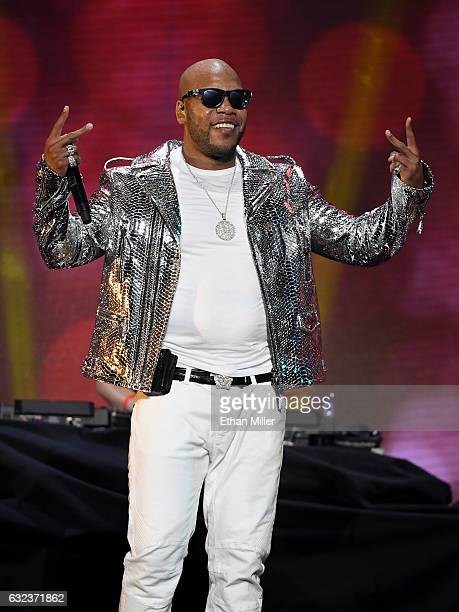 Rapper Flo Rida performs during the 2017 Adult Video News Awards at The Joint inside the Hard Rock Hotel Casino on January 21 2017 in Las Vegas Nevada