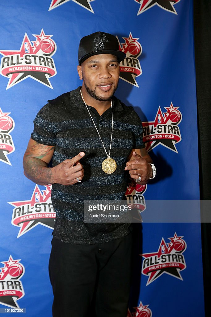 Rapper <a gi-track='captionPersonalityLinkClicked' href=/galleries/search?phrase=Flo+Rida&family=editorial&specificpeople=4456012 ng-click='$event.stopPropagation()'>Flo Rida</a> poses on the All-Star Red Carpet prior to the 2013 NBA All-Star Game presented by Kia Motors on February 17, 2013 at the Toyota Center in Houston, Texas.