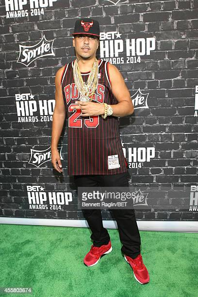 Rapper French Montana attends the BET Hip Hop Awards 2014 presented by Sprite at Boisfeuillet Jones Atlanta Civic Center on September 20 2014 in...