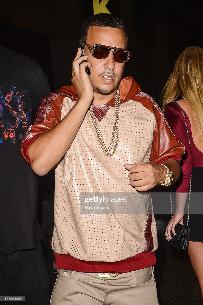 Rapper <a gi-track='captionPersonalityLinkClicked' href=/galleries/search?phrase=French+Montana&family=editorial&specificpeople=7131467 ng-click='$event.stopPropagation()'>French Montana</a> enters the Dream Downtown hotel on August 25, 2013 in New York City.