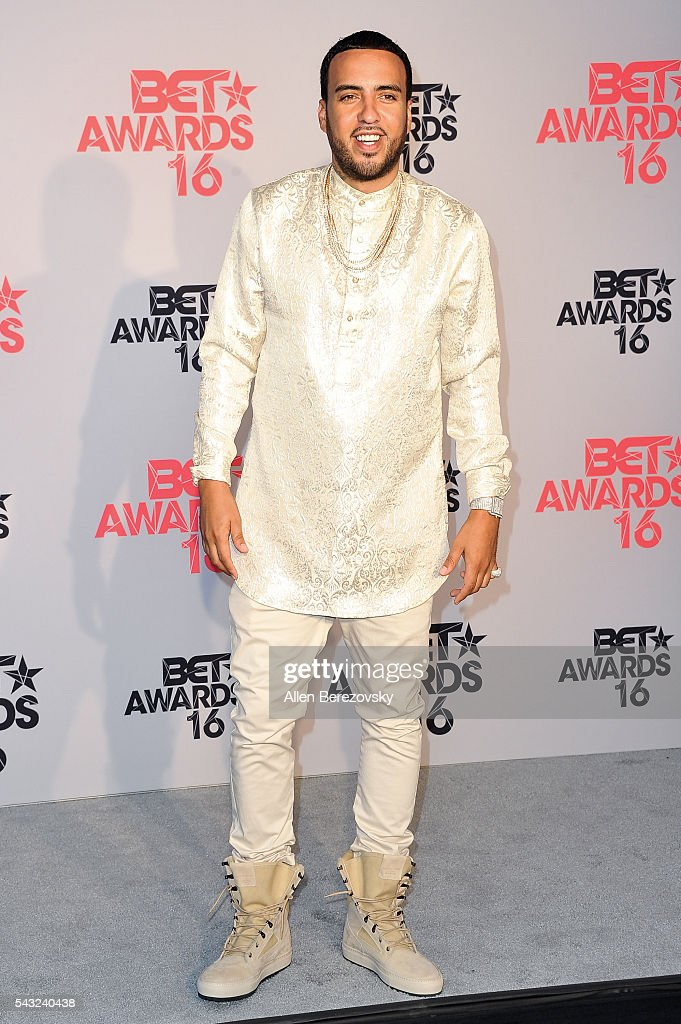 Rapper <a gi-track='captionPersonalityLinkClicked' href=/galleries/search?phrase=French+Montana&family=editorial&specificpeople=7131467 ng-click='$event.stopPropagation()'>French Montana</a> poses for pictures in the press room during the 2016 BET Awards at Microsoft Theater on June 26, 2016 in Los Angeles, California.