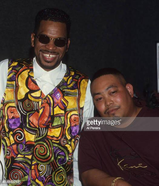 Rapper Fresh Kid Ice and Luther 'Luke' Campbell of The 2 Live Crew are seen at a nightclub in February of 1994 in a Miami Florida Wong Won died on...
