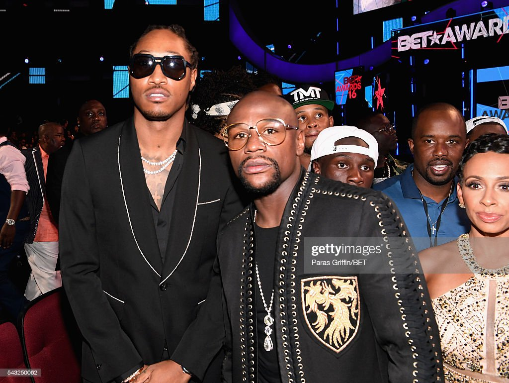 Rapper Future (L) and boxer Floyd Mayweather attend the 2016 BET Awards at the Microsoft Theater on June 26, 2016 in Los Angeles, California.