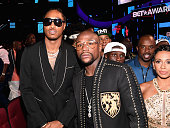 Rapper Future and boxer Floyd Mayweather attend the 2016 BET Awards at the Microsoft Theater on June 26 2016 in Los Angeles California
