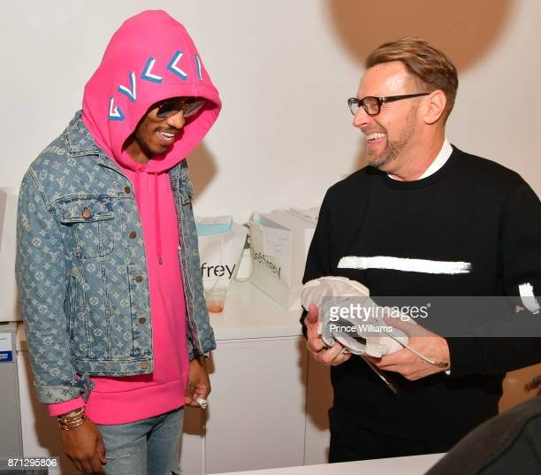 Rapper Future and Don Parcell attend Future Reebok 'Pluto' Shoe Release at Jeffrey on November 6 2017 in Atlanta Georgia