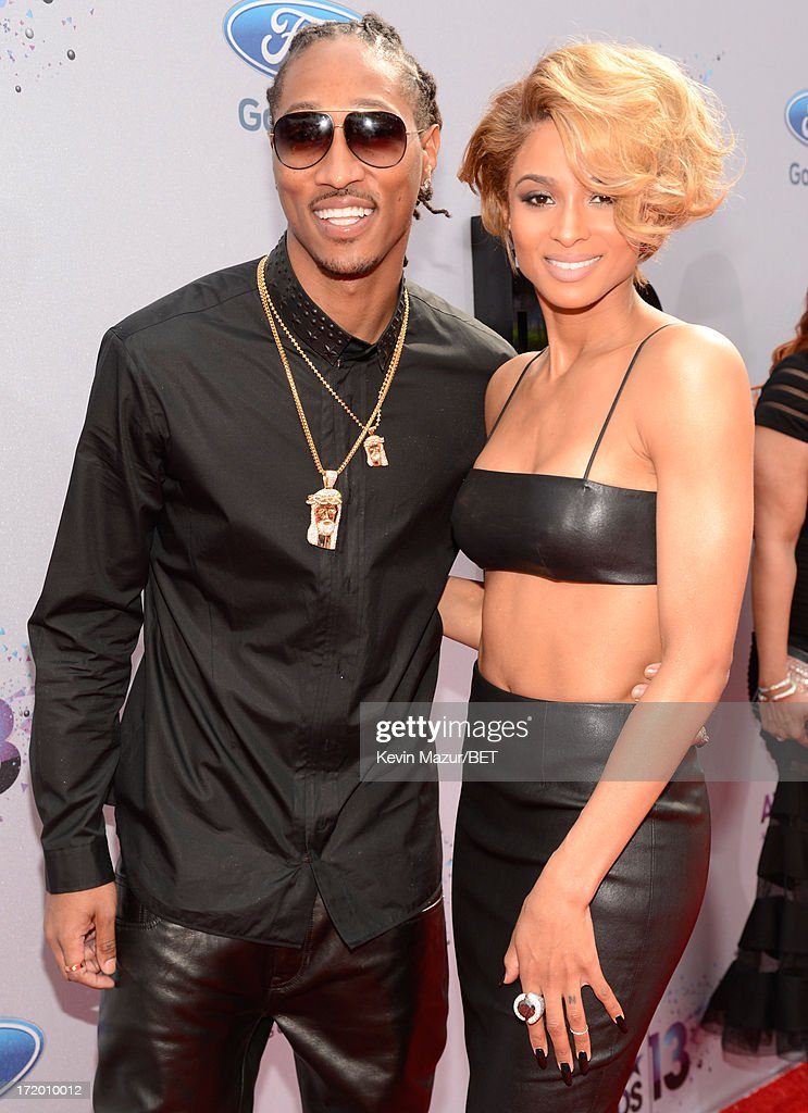 Rapper Future (L) and singer Ciara attend the Ford Red Carpet at the 2013 BET Awards at Nokia Theatre L.A. Live on June 30, 2013 in Los Angeles, California.