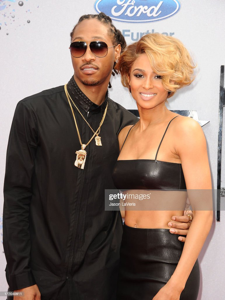 Rapper Future and singer <a gi-track='captionPersonalityLinkClicked' href=/galleries/search?phrase=Ciara+-+Cantora&family=editorial&specificpeople=11647122 ng-click='$event.stopPropagation()'>Ciara</a> Harris attend the 2013 BET Awards at Nokia Theatre L.A. Live on June 30, 2013 in Los Angeles, California.