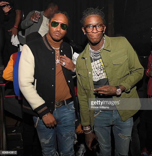 Rapper Future and Young Thug attend the TIDAL #CM9 Release Concert at Center Stage on December 23 2016 in Atlanta Georgia
