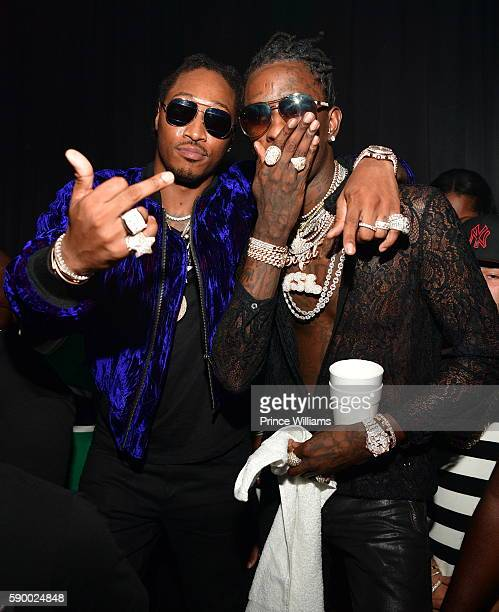 Rapper Future and Young Thug attend Young Thugs 25th Birthday an PUMA Campaign on August 15 2016 in Atlanta Georgia