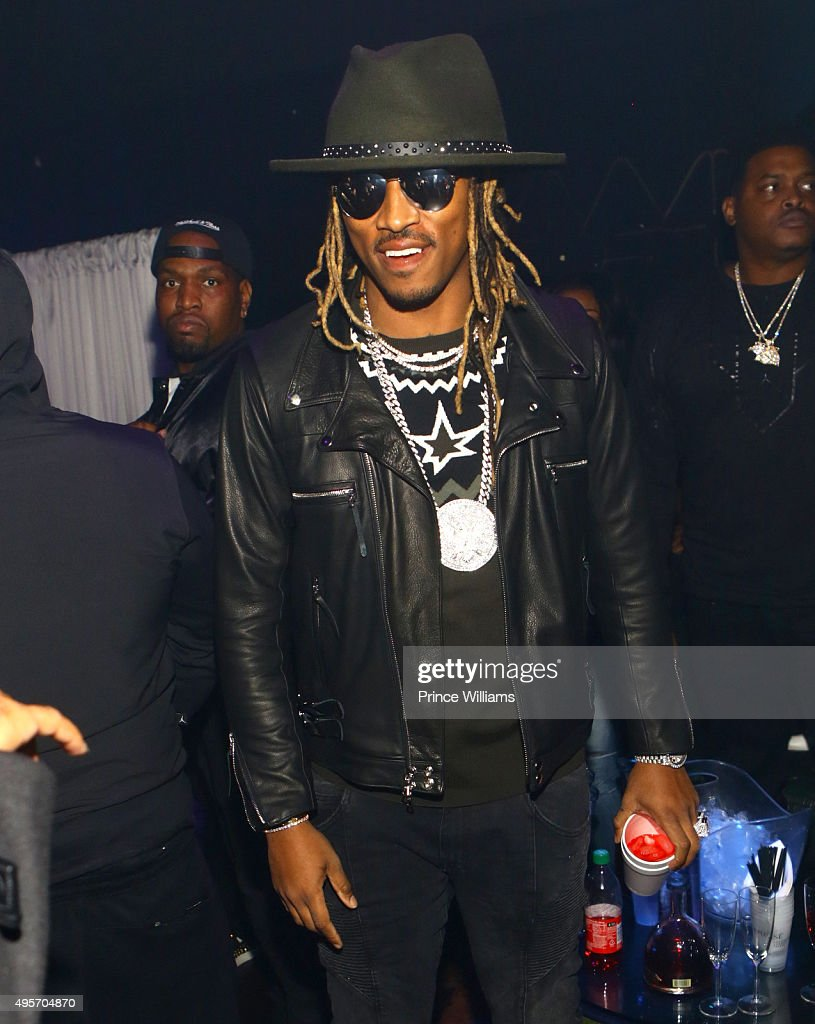 Rapper Future Attends All Black Affair For Mr Rugs Toya Wright Birthday  Celebration At XS Lounge
