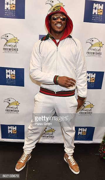 Rapper Future attends Freewishes Making Wishes Matter presents Winter Wishland Coat Toy Drive at Bessie Branham Park on December 20 2015 in Atlanta...