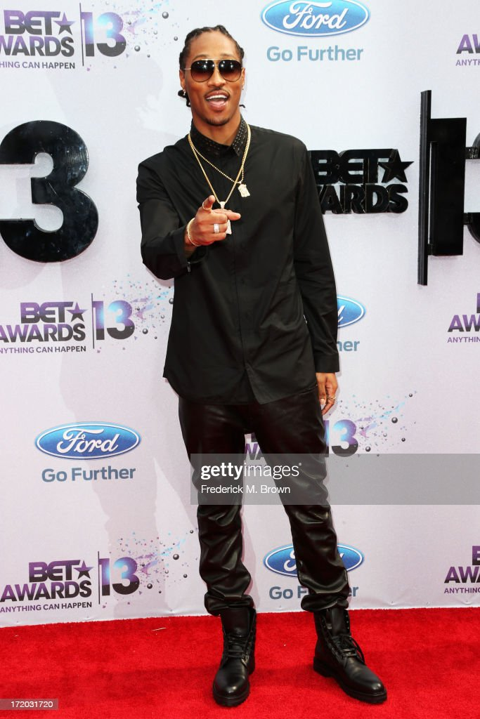 Rapper Future attends the 2013 BET Awards at Nokia Theatre L.A. Live on June 30, 2013 in Los Angeles, California.