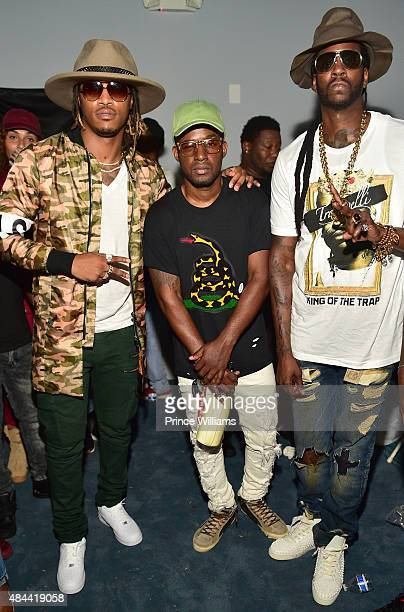 Rapper Future Fred Foster and 2 Chainz attend the Cease And Desist Fashion presentation on August 13 2015 in Atlanta Georgia