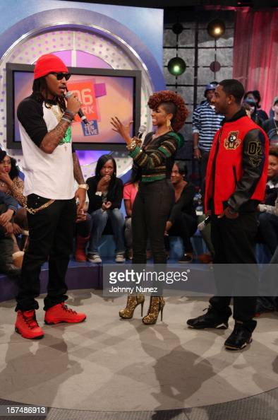 Rapper Future hosts Miss Mykie and Shorty Da Prince attend 106 Park Studio on December 3 2012 in New York City