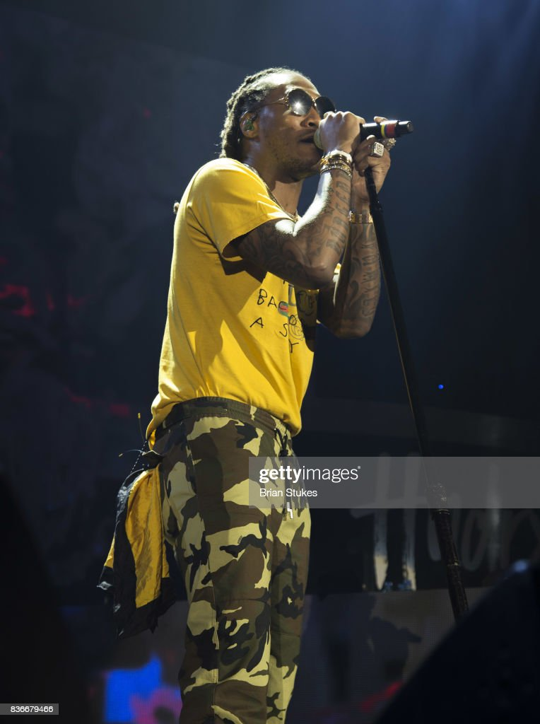 Rapper Future live in concert 'The Future HNDRXX Tour' at Royal Farms Arena on August 21, 2017 in Baltimore, Maryland.
