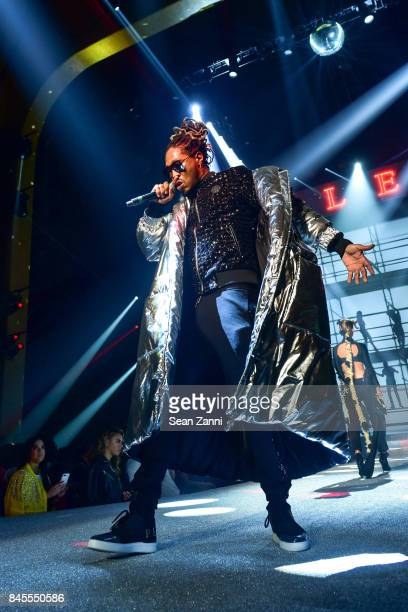 Rapper Future performs at the Philipp Plein fashion show during New York fashion week at Hammerstein Ballroom on September 9 2017 in New York City
